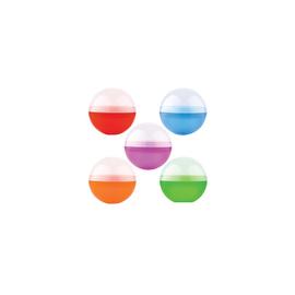 """4"""" Round Plastic Capsule -Assorted Colors"""