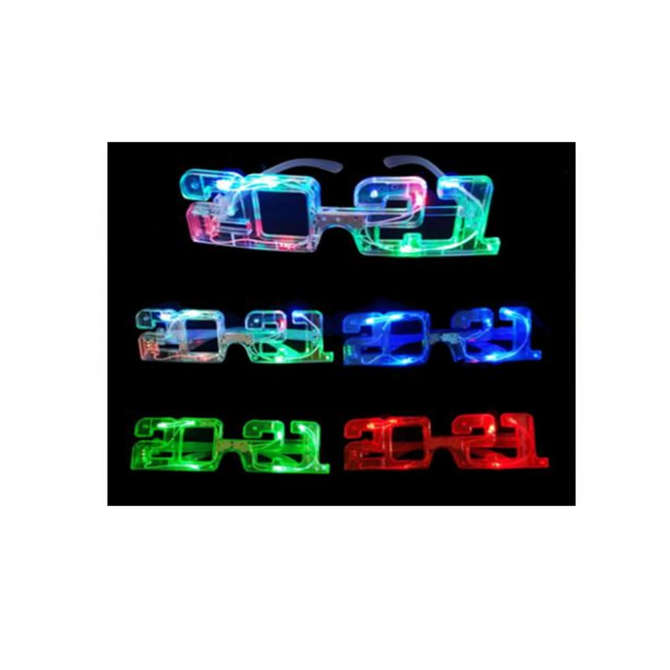 2021 New Year Light Up Glasses