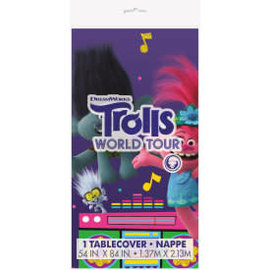 "Trolls Rectangular Plastic Table Cover, 54""x84"""