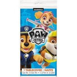 "Paw Patrol Rectangular Plastic Table Cover, 54""x84"""