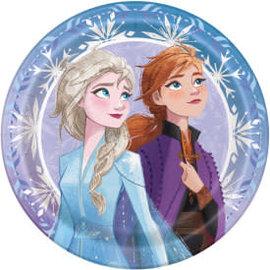 """Disney Frozen 2 Round 9"""" Dinner Plates, 8ct"""