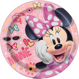 "Disney Iconic Minnie Mouse Round 9"" Dinner Plates, 8ct"