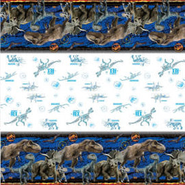 """Jurassic World 2 Rectangular Plastic Table Cover, 54""""x84"""""""