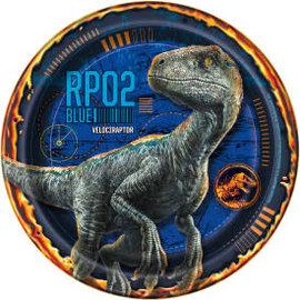 """Jurassic World 2 Round 7"""" Dessert Plates, 8ct"""