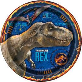 """Jurassic World 2 Round 9"""" Dinner Plates, 8ct"""