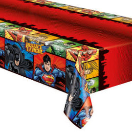 "Justice League Rectangular Plastic Table Cover, 54""x84"""
