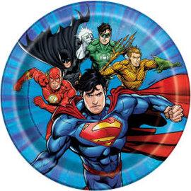 "Justice League Round 7"" Dessert Plates, 8ct"