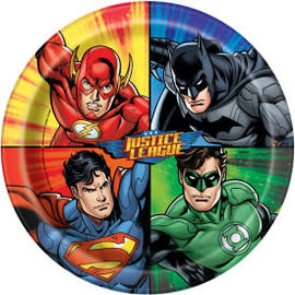 "Justice League Round 9"" Dinner Plates, 8ct"