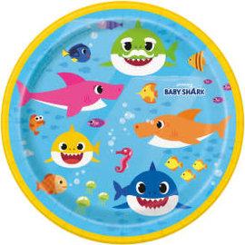 """Baby Shark Round 7"""" Dessert Plates, 8ct"""