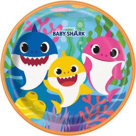 "Baby Shark Round 9"" Dinner Plates, 8ct"