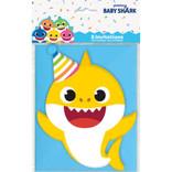 Baby Shark Large Invitations, 8ct