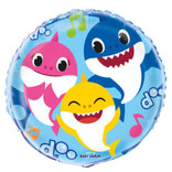 "Baby Shark Round Foil Balloon 18"", Packaged"