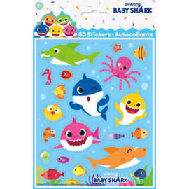 Baby Shark Sticker Sheets, 4ct