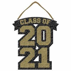 Class of 2021 Glitter Foam Sign - Gold