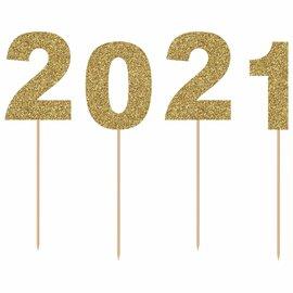 Glitter 2021 Cake Picks