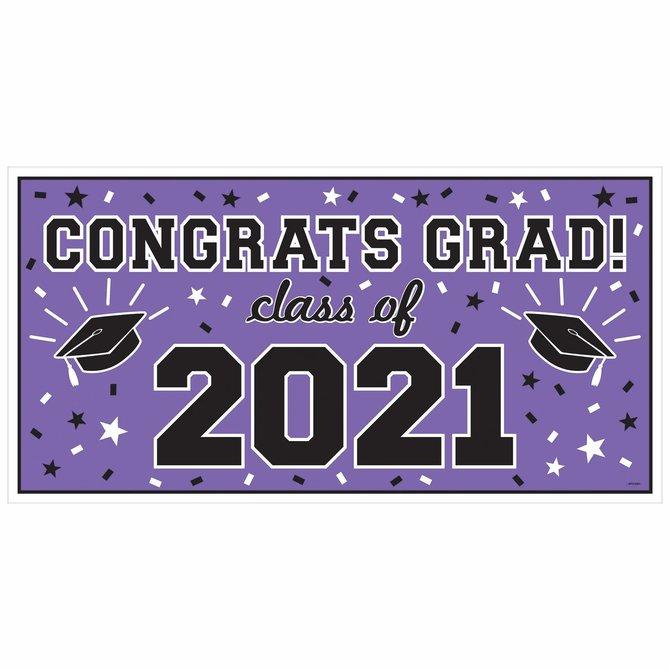 2021 Grad Large Horizontal Banner-Purple
