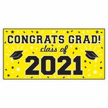 2021 Grad Large Horizontal Banner-Yellow