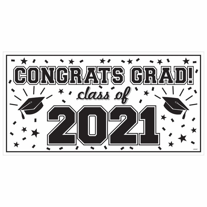 2021 Grad Large Horizontal Banner-White