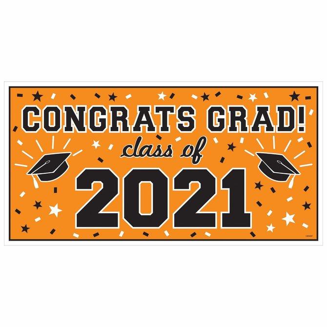 2021 Grad Large Horizontal Banner-Orange