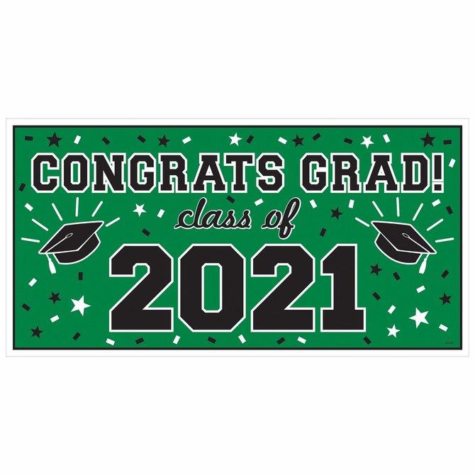 2021 Grad Large Horizontal Banner- green