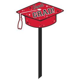 Grad Yard Sign - Red
