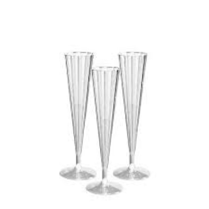 5 oz. Deluxe Champagne Flutes - Clear 10 Ct.