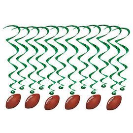 Football Whirls- 12ct