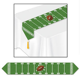 """Printed Game Day Football Table Runner 11"""" x 6'"""
