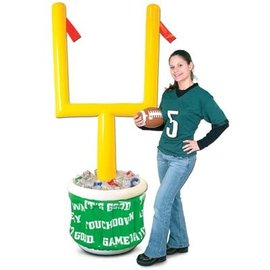 """Inflatable Goal Post Cooler w/Football 28""""W x 6' 2""""H"""