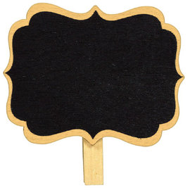 Clip-On Chalkboard Labels, 8 ct