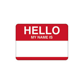 Hello My Name Is... w/Red Border Name Tags -100ct