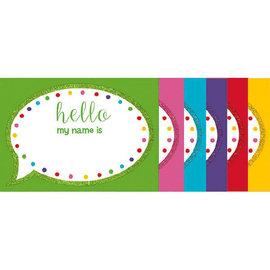 Multicolor w/Glitter Name Tags -60ct