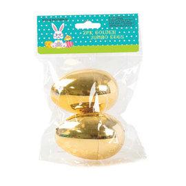 Jumbo Golden Easter Egg- 2ct