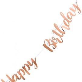 Happy Birthday Rose Gold Letter Banner