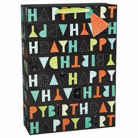Letter Birthday X-Large Bag w/Gift Tag
