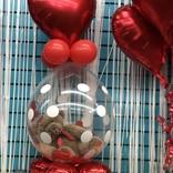 Valentines Stuffed Balloon w/ medium bear