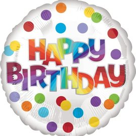 "Happy Birthday Dots of Color - 18"""