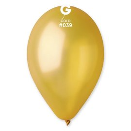 "Metallic Gold 12"" Latex Balloons, 50ct"