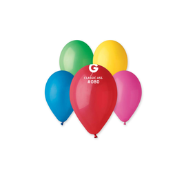 """Classic Assorted 12"""" Latex Balloons, 50ct"""