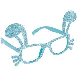 Blue Glitter Bunny Glasses
