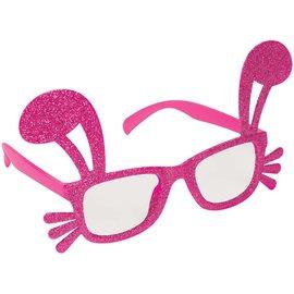 Pink Glitter Bunny Glasses