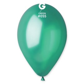 "Metallic Green 12"" Latex Balloons, 50ct"