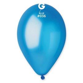 "Metallic Blue 12"" Latex Balloons, 50ct"