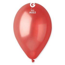 "Metallic Red 12"" Latex Balloons, 50ct"