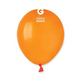 "Orange 5"" Latex Balloons, 100ct"