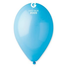 "Light Blue 12"" Latex Balloons, 50ct"
