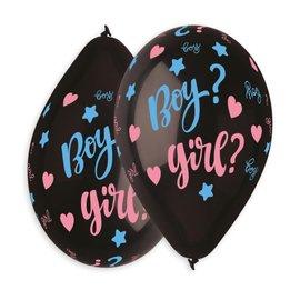 "Boy or Girl 12"" Printed Latex Balloons, 50ct"