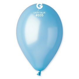 "Metallic Light Blue 12"" Latex Balloons, 50ct"