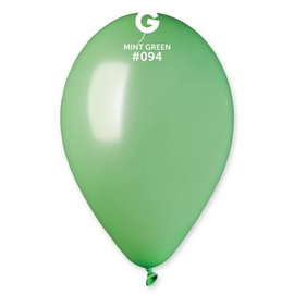 "Metallic Mint Green 12"" Latex Balloons, 50ct"