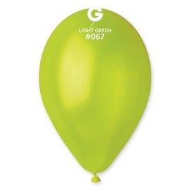 "Metallic Light Green 12"" Latex Balloons, 50ct"